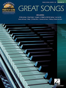 Great Songs Piano Play-Along Volume 104 with Two CDs Book/2-CD Pack Piano Play-Along P/V/G