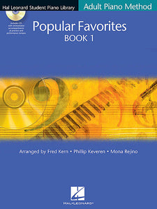 Popular Favorites Book 1 Hal Leonard Student Piano Library Adult Piano Method arr. Fred Kern, Phillip Keveren, Mona Rejino Educational Piano Library Book/Enhanced CD Pack