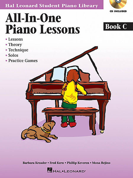 All-in-One Piano Lessons Book C Educational Piano Library Book/Online Audio