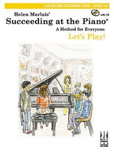 Succeeding at the Piano , Lesson and Technique Book, Grade 2B, with CD - various - Piano Book