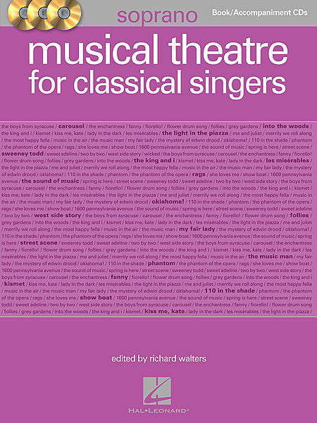 Musical Theatre for Classical Singers Soprano Book/3-CDs Pack ed. Richard Walters Vocal Collection