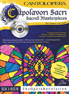 Sacred Masterpieces With a CD of performances and orchestral accompaniments Tenor, Book/CD Cantolopera Series Vocal Tenor, Book/CD