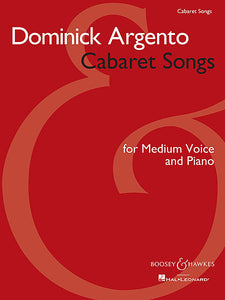 Cabaret Songs Medium Voice and Piano Boosey & Hawkes Voice Medium Voice and Piano