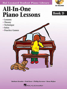 All-in-One Piano Lessons Book D, Bk/Audio and Midi Access