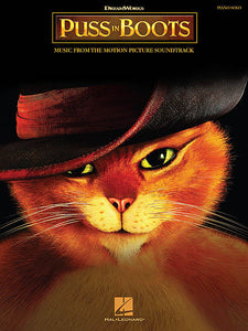 Puss in Boots Music from the Motion Picture Soundtrack Piano Solo Songbook Piano Solo