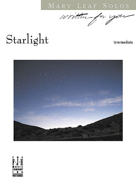 Starlight - Mary Leaf - Piano Solo Sheet