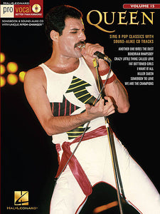 Queen Pro Vocal Men's Edition Volume 15 Book/CD Pack Pro Vocal Melody/Lyrics/Chords