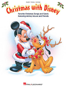 Christmas with Disney Favorite Christmas Songs and Carols Featuring Mickey Mouse and Friends Piano/Vocal/Guitar Songbook P/V/G