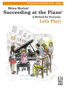 Succeeding at the Piano , Lesson and Technique Book - Grade 4 (without CD) - various - Piano Book