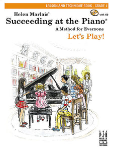 Succeeding at the Piano , Lesson and Technique Book - Grade 4 (with CD) - various - Piano Book