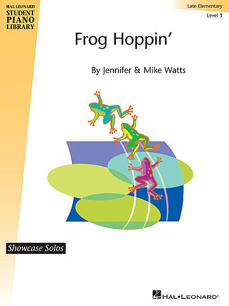 Frog Hoppin' by Jennifer and Mike Watts Late Elementary - Level 3 Educational Piano Library