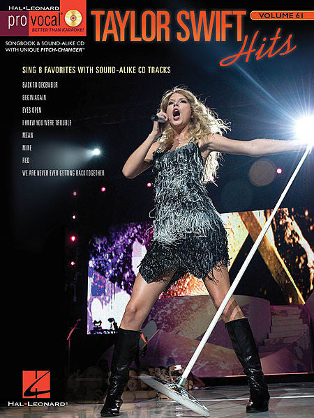 Taylor Swift Hits Pro Vocal Women's Edition Volume 61 Book/CD Pack Pro Vocal Melody/Lyrics/Chords
