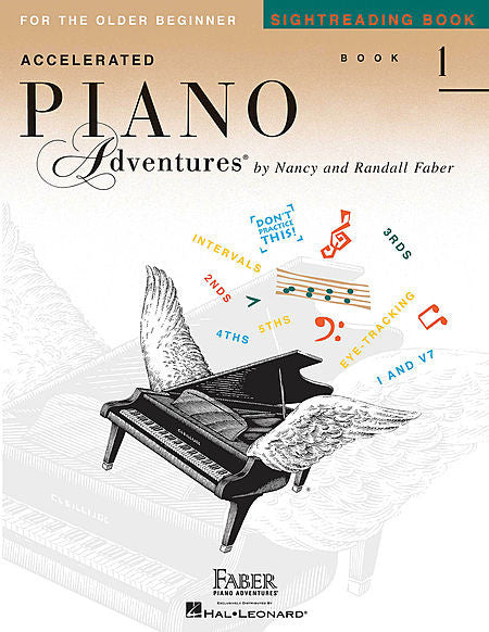 Accelerated Piano Adventures for the Older Beginner Sightreading Faber Piano Adventures Lesson Book 1