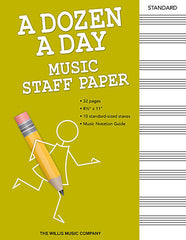 A Dozen A Day Music Staff Paper, 32 Pages, 10 Stave