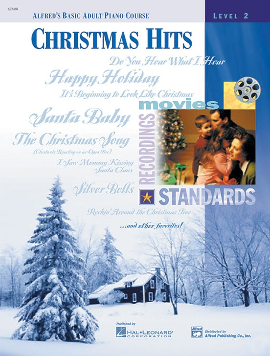 XMAS - Alfred's Basic Adult Piano Course - Christmas Hits, Level 2 - Piano Solo Collection