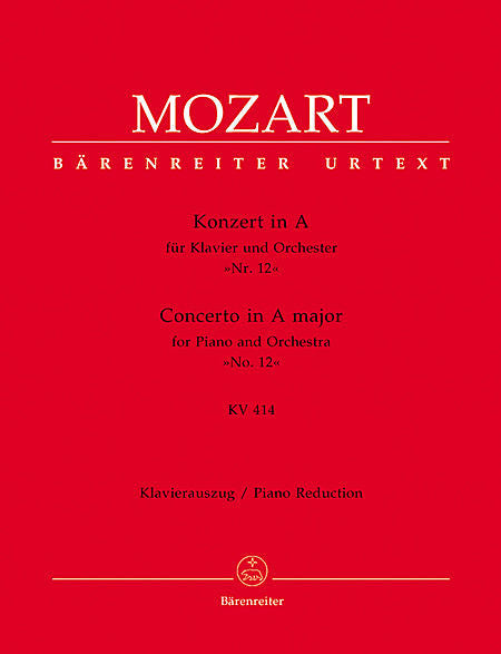 Concerto for Piano and Orchestra No. 12 A major KV 414 - Mozart, Wolfgang Amadeus