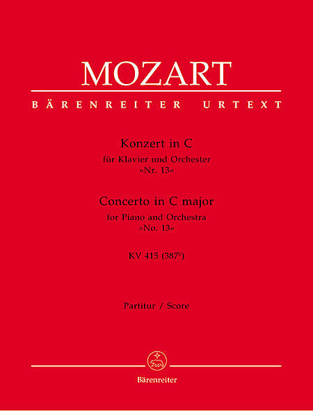 Concerto for Piano and Orchestra No. 13 C major KV 415 (387b) - Mozart, Wolfgang Amadeus