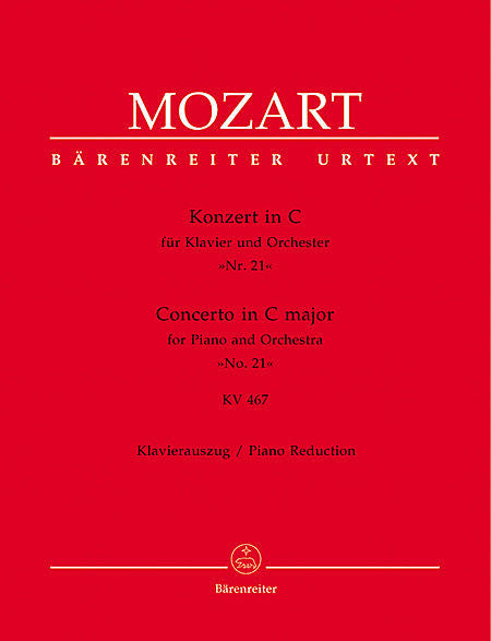 Concerto for Piano and Orchestra No. 21 C major KV 467 - Mozart, Wolfgang Amadeus