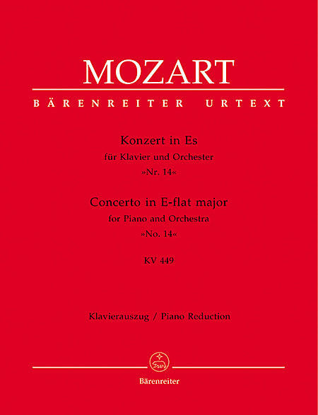 Concerto for Piano and Orchestra No. 14 E flat major KV 449 - Mozart, Wolfgang Amadeus