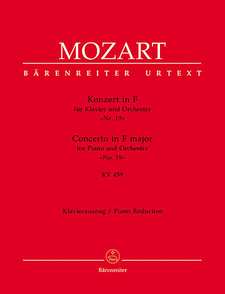 Concerto for Piano and Orchestra No. 19 F major KV 459 - Mozart, Wolfgang Amadeus