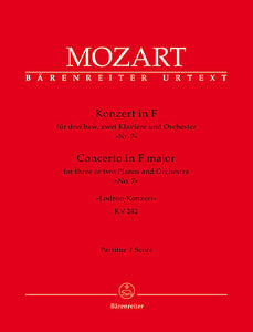 Concerto for three or two Pianos and Orchester No. 7 F major KV 242 'Lodron Concerto' - Mozart, Wolfgang Amadeus