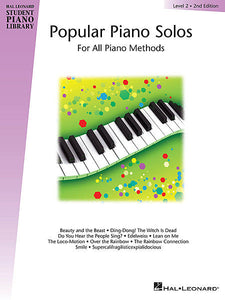 Popular Piano Solos - Level 2 Hal Leonard Student Piano Library Educational Piano Library Book Only