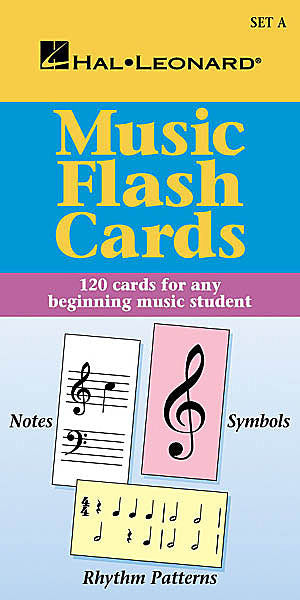 Music Flash Cards - Set A Hal Leonard Student Piano Library Hal Leonard Student Piano Library Educational Piano Library