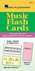 Music Flash Cards - Set B Hal Leonard Student Piano Library Hal Leonard Student Piano Library Educational Piano Library