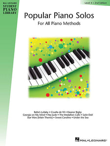 Popular Piano Solos - Level 4 Hal Leonard Student Piano Library Educational Piano Library Book Only