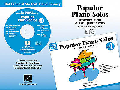Popular Piano Solos - Level 1 - CD Hal Leonard Student Piano Library Educational Piano Library CD