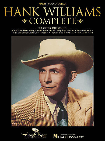 Hank Williams Complete Piano/Vocal/Guitar Artist Songbook P/V/G