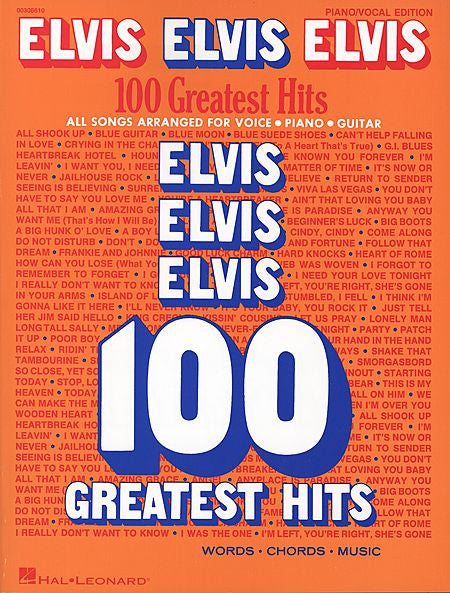 Elvis Elvis Elvis - 100 Greatest Hits Piano/Vocal/Guitar Artist Songbook P/V/G