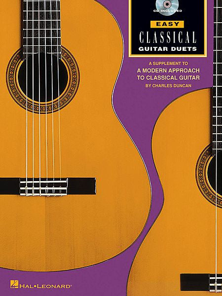 Easy Classical Guitar Duets Book/CD Pack Fretted Book/CD Pak