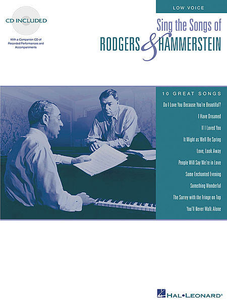 Sing the Songs of Rodgers & Hammerstein Low Voice with a companion CD of performances and accompaniments Vocal Collection Low Voice
