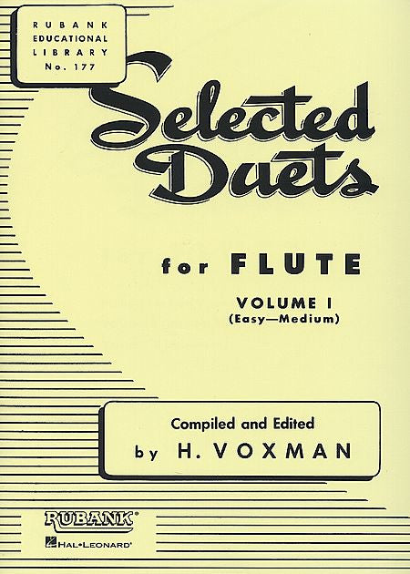 Selected Duets for Flute Volume 1 - Easy to Medium edited H. Voxman Ensemble Collection Volume 1