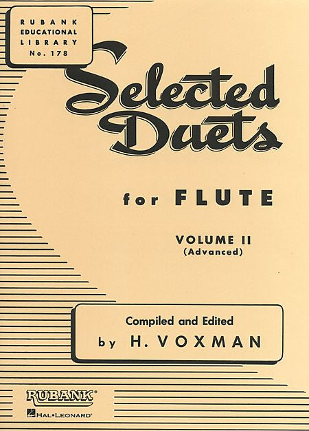 Selected Duets for Flute Volume 2 - Advanced edited H. Voxman Ensemble Collection Volume 2