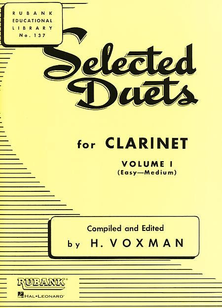 Selected Duets for Clarinet Volume 1 - Easy to Medium edited H. Voxman Ensemble Collection Volume 1