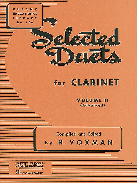 Selected Duets for Clarinet Volume 2 - Advanced edited H. Voxman Ensemble Collection Volume 2
