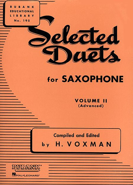 Selected Duets for Saxophone Volume 2 - Advanced edited H. Voxman Ensemble Collection Volume 2