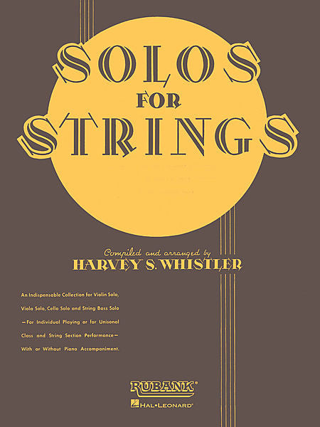 Solos For Strings - String Bass Solo (1st And 2nd Positions) arr. Harvey S. Whistler Rubank Solo Collection