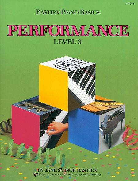 Bastien Piano Basics, Level 3, Performance - Jane Bastien