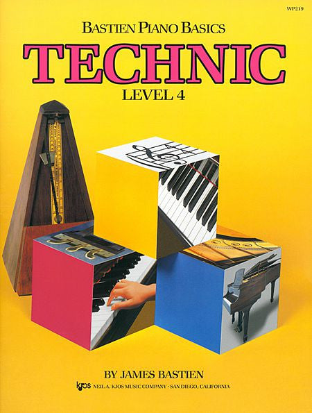 Bastien Piano Basics, Level 4, Technic - James Bastien