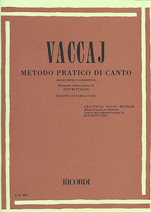 Metodo Practico Mezzo-Soprano/Baritone - Book/CD (Battaglia) Vocal Method Mezzo-Soprano/Baritone - Book/CD