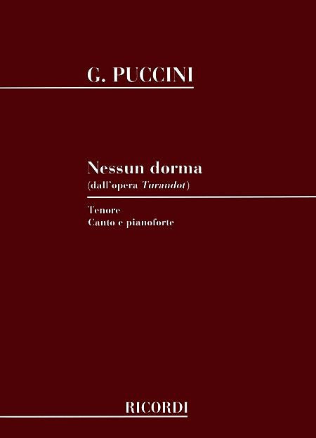 Nessun Dorma (from Turandot) Tenor Voice and Piano Vocal Solo