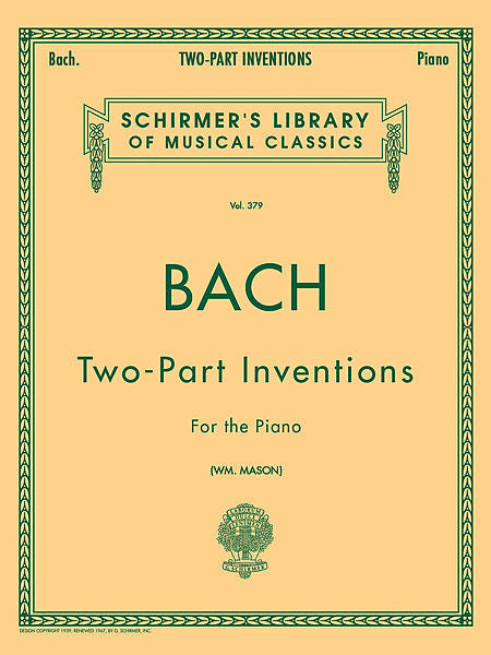 J. S. Bach - 15 Two-Part Inventions (Mason) Piano Solo, arr. Mason (Mason) Piano Method Piano Solo