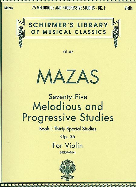 75 Melodious and Progressive Studies, Op. 36 - Book 1 Violin Method (Herrmann) String Method