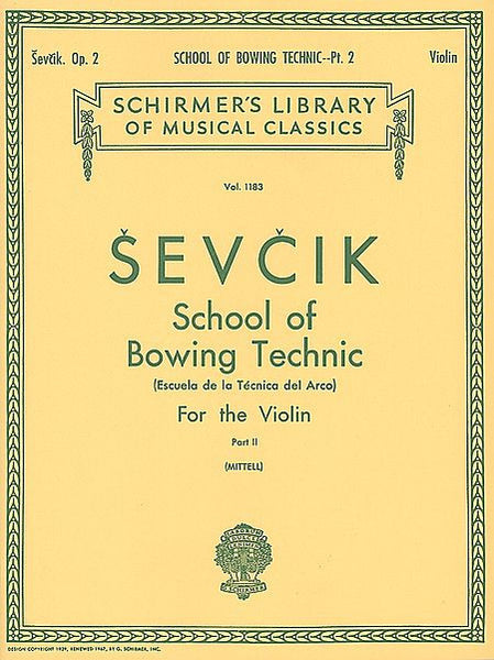 School of Bowing Technics, Op. 2 - Book 2 Violin Method (Mittell) String Solo