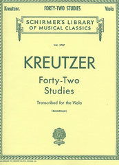 42 Studies Transcribed for the Viola Viola Method by Rodolphe Kreutzer transcribed by Walter Blumenau String Solo