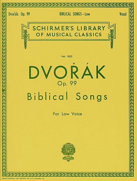Biblical Songs, Op.99 Low Voice Vocal Collection Low Voice