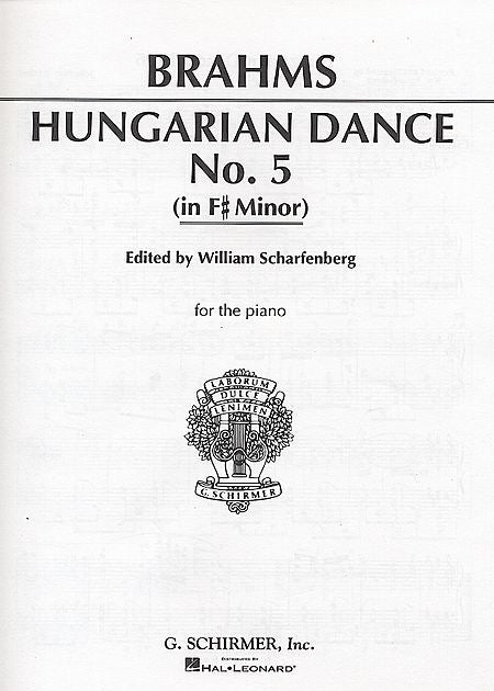 Brahms - Hungarian Dance No. 5 (f# minor) Piano Solo (Scharfenberg)